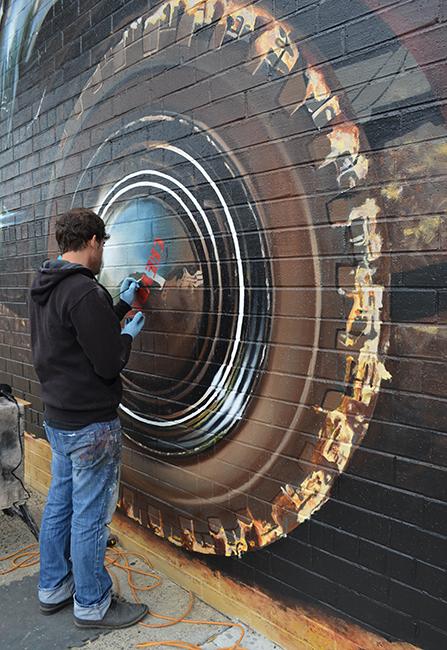 Brevard Lumber Arts District Mural